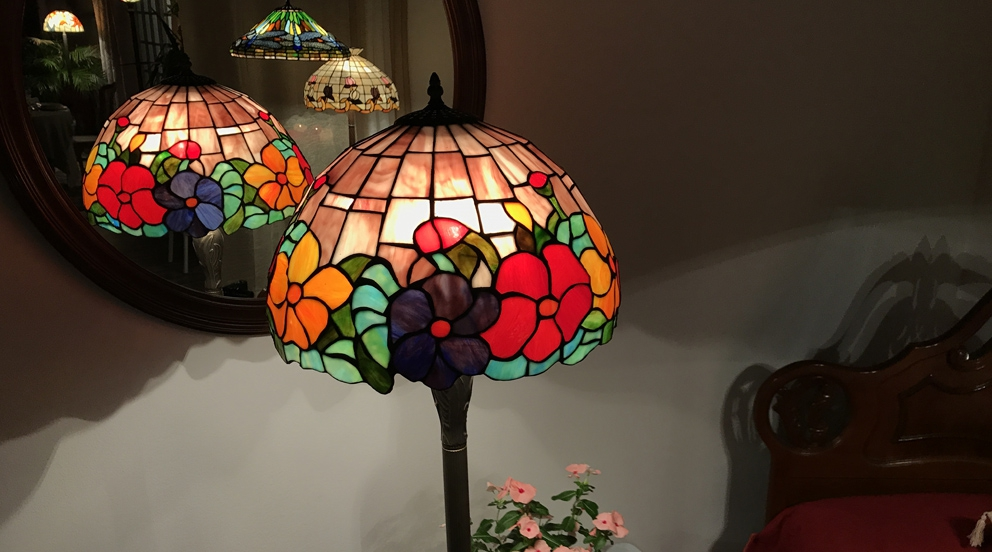 Lampadaire Tiffany Nuits Fleuries
