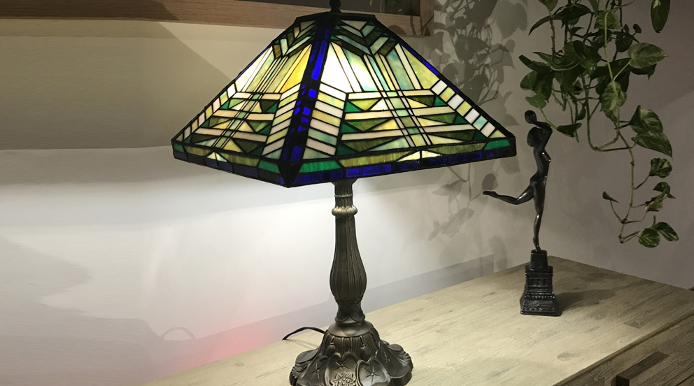 Grande lampe Tiffany Foide nature