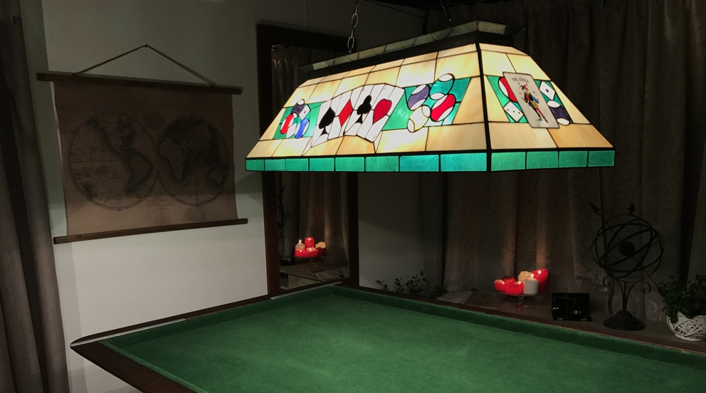 Grande Lampe De Billard Carre D As Grandes Lampes Tiffany