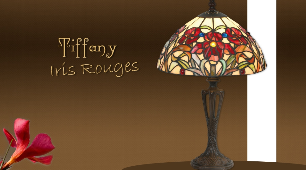 lampe de chevet iris rouges petites lampes tiffany luminaires tiffany lampes tiffany. Black Bedroom Furniture Sets. Home Design Ideas