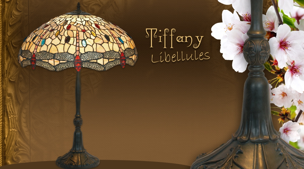 lampe libellule style tiffany grandes lampes tiffany luminaires tiffany lampes tiffany. Black Bedroom Furniture Sets. Home Design Ideas