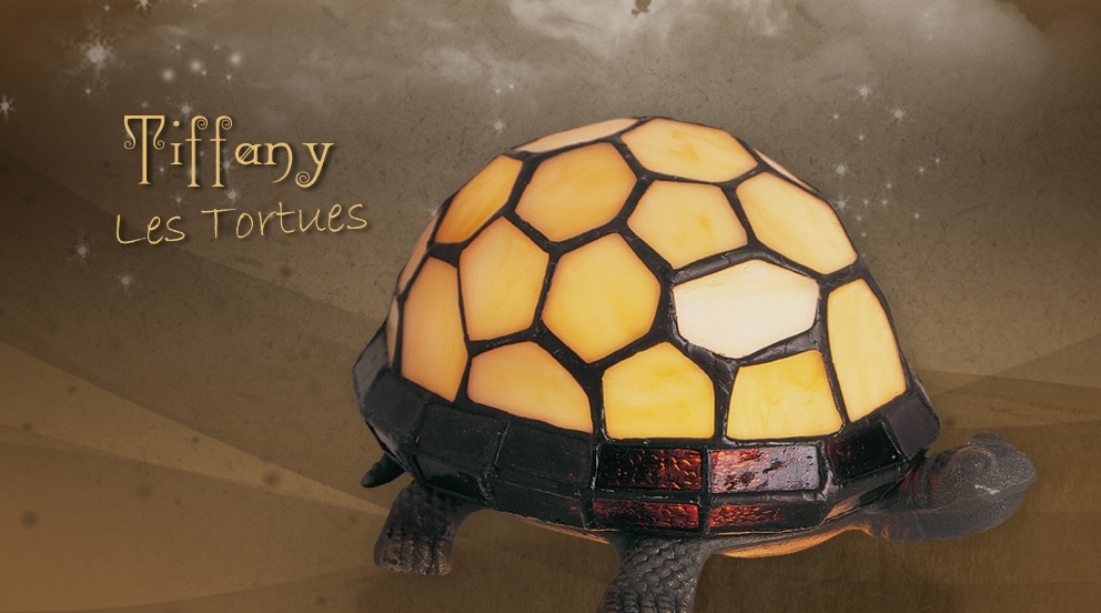 Lampe tortue tiffany petites lampes tiffany luminaires - Lampe chauffante tortue ...