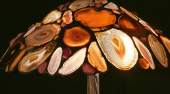 Lampe Tiffany : Agate rose