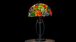 Lampe Tiffany : Joyeuses vendanges